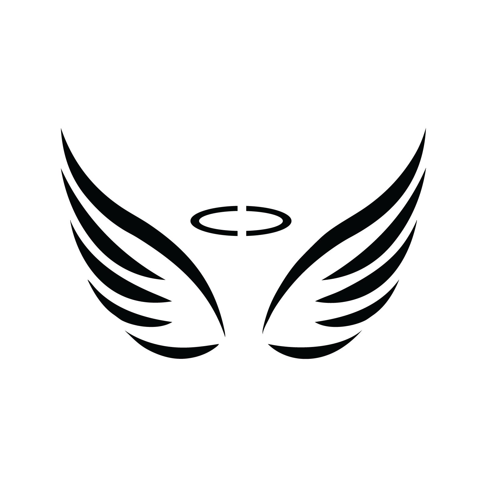 Angel wings silhouette fun. Wing clipart stencil