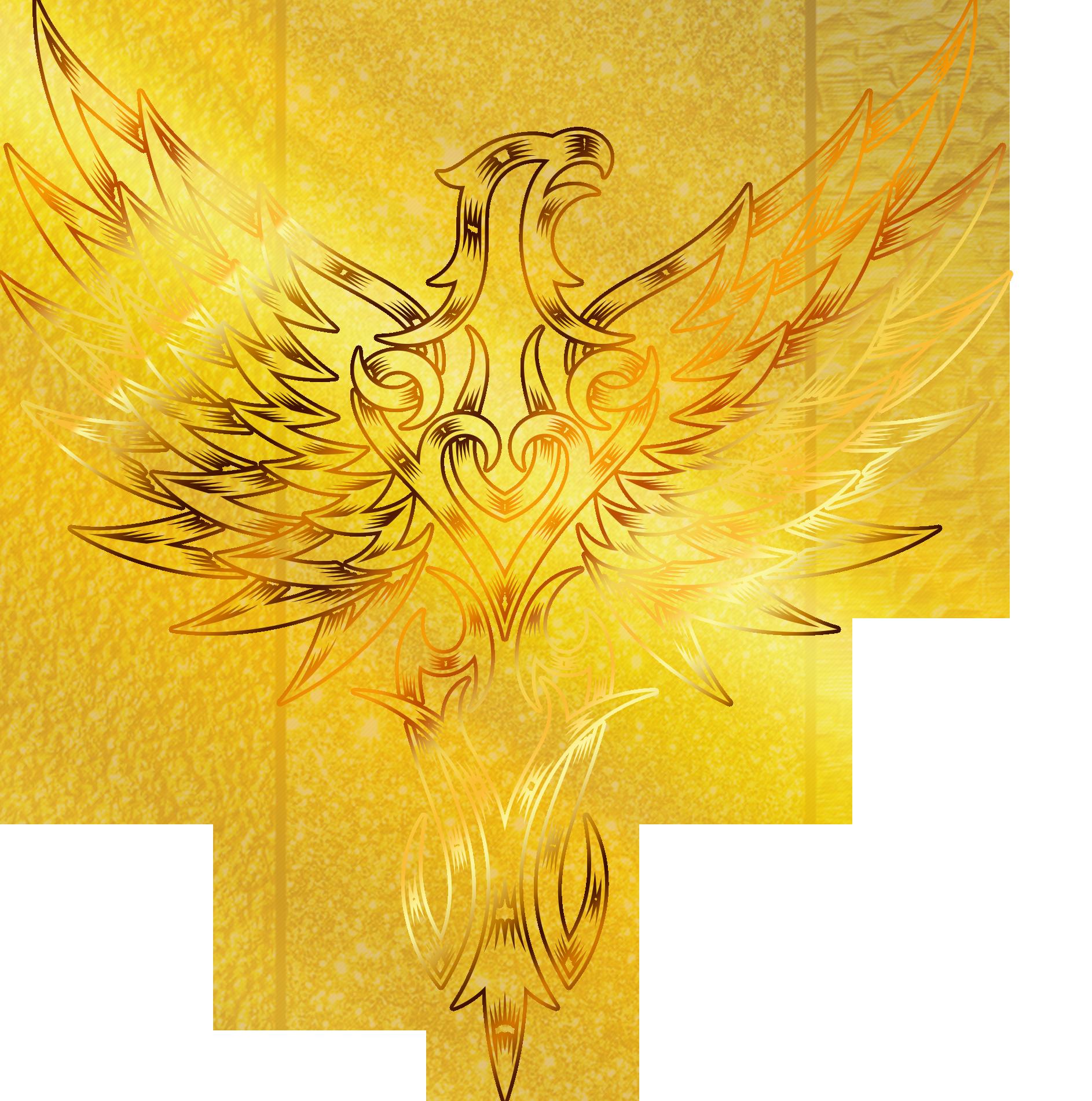 Golden eagle flight wings. Wing clipart supernatural