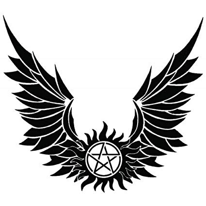 Devils trap anti possession. Wing clipart supernatural