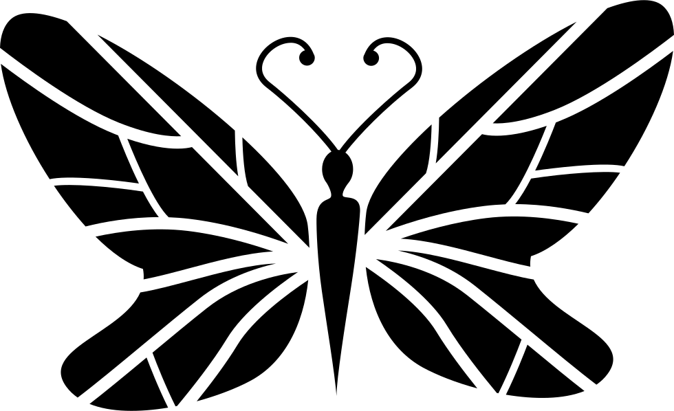 Wing clipart svg file free. Black butterfly top view