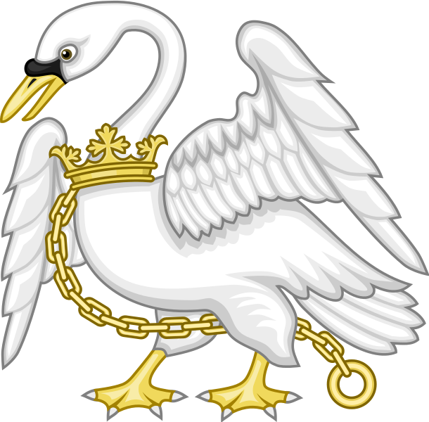 Wing clipart swan. File badge of henry