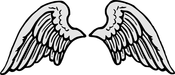 Free angel stencil download. Wing clipart template