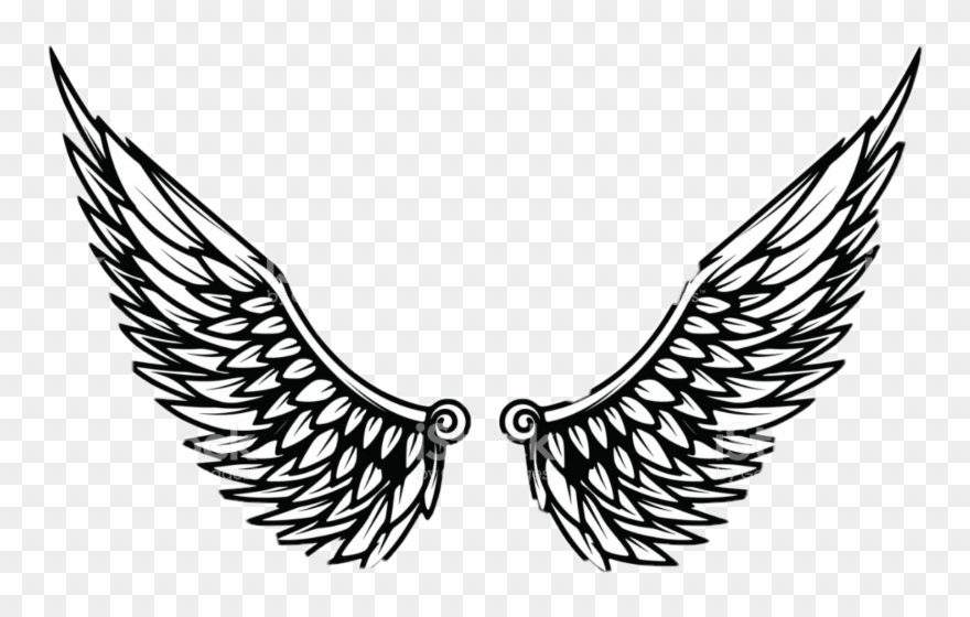 Wing clipart template. Eagle wings pinclipart