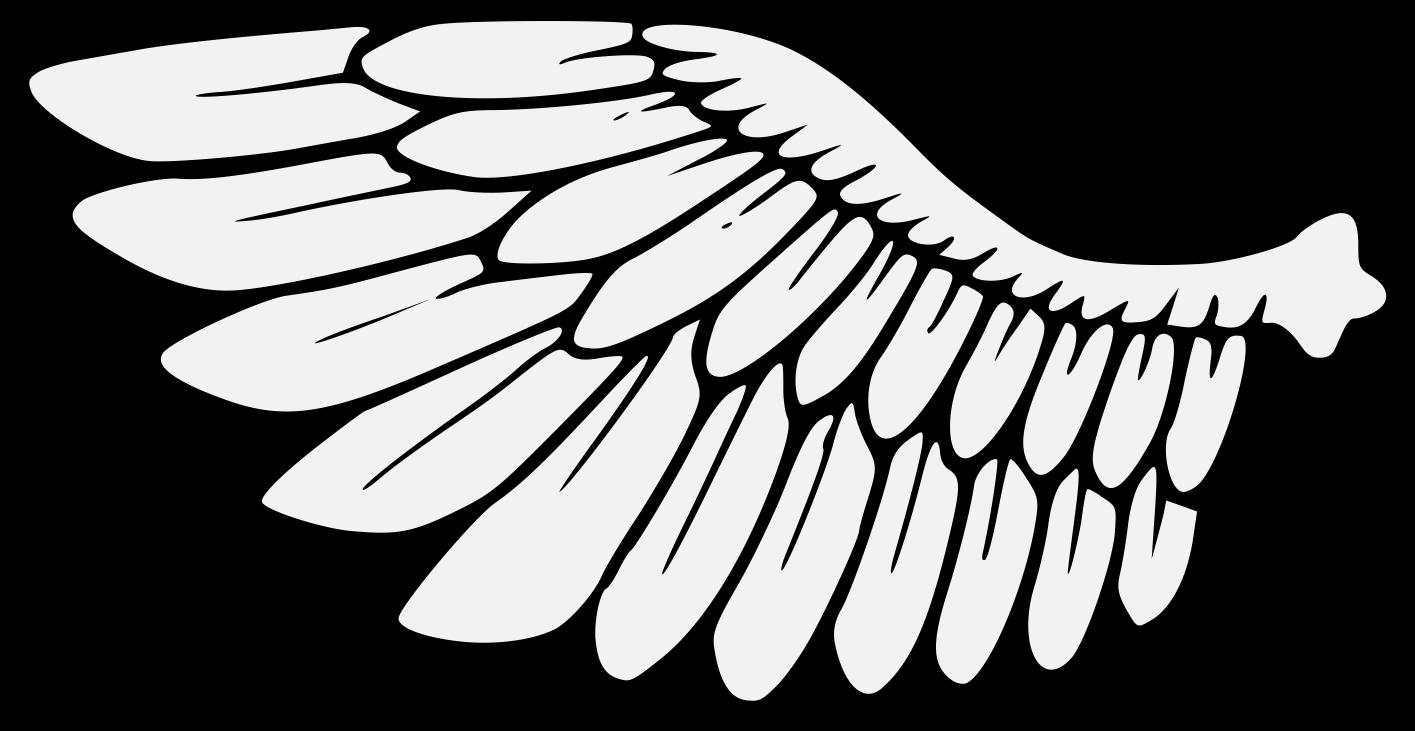 Wing clipart traceable. Heraldic art