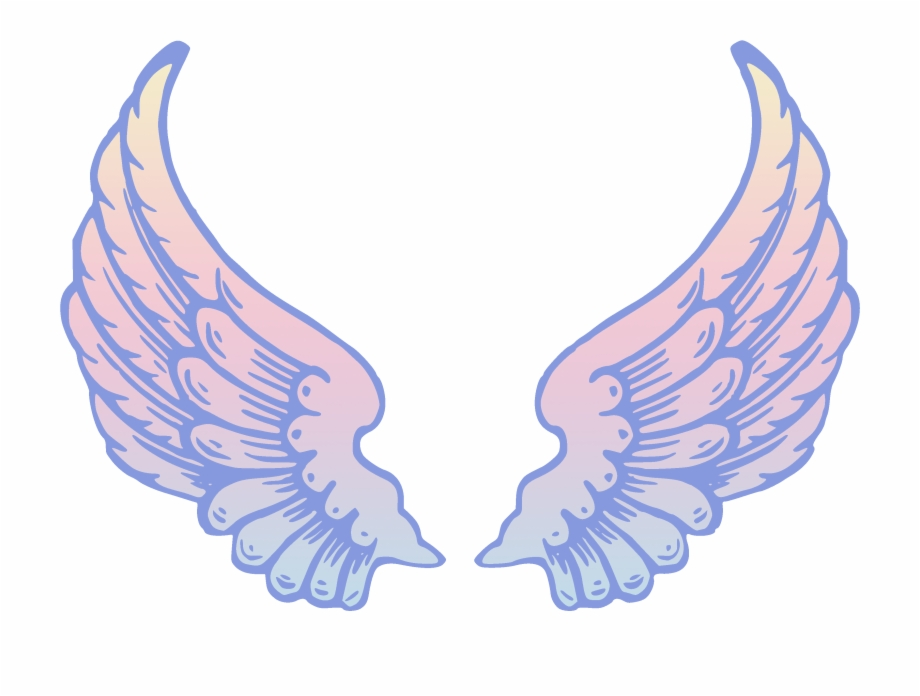 Wing clipart transparent. Angel wings lightwing co