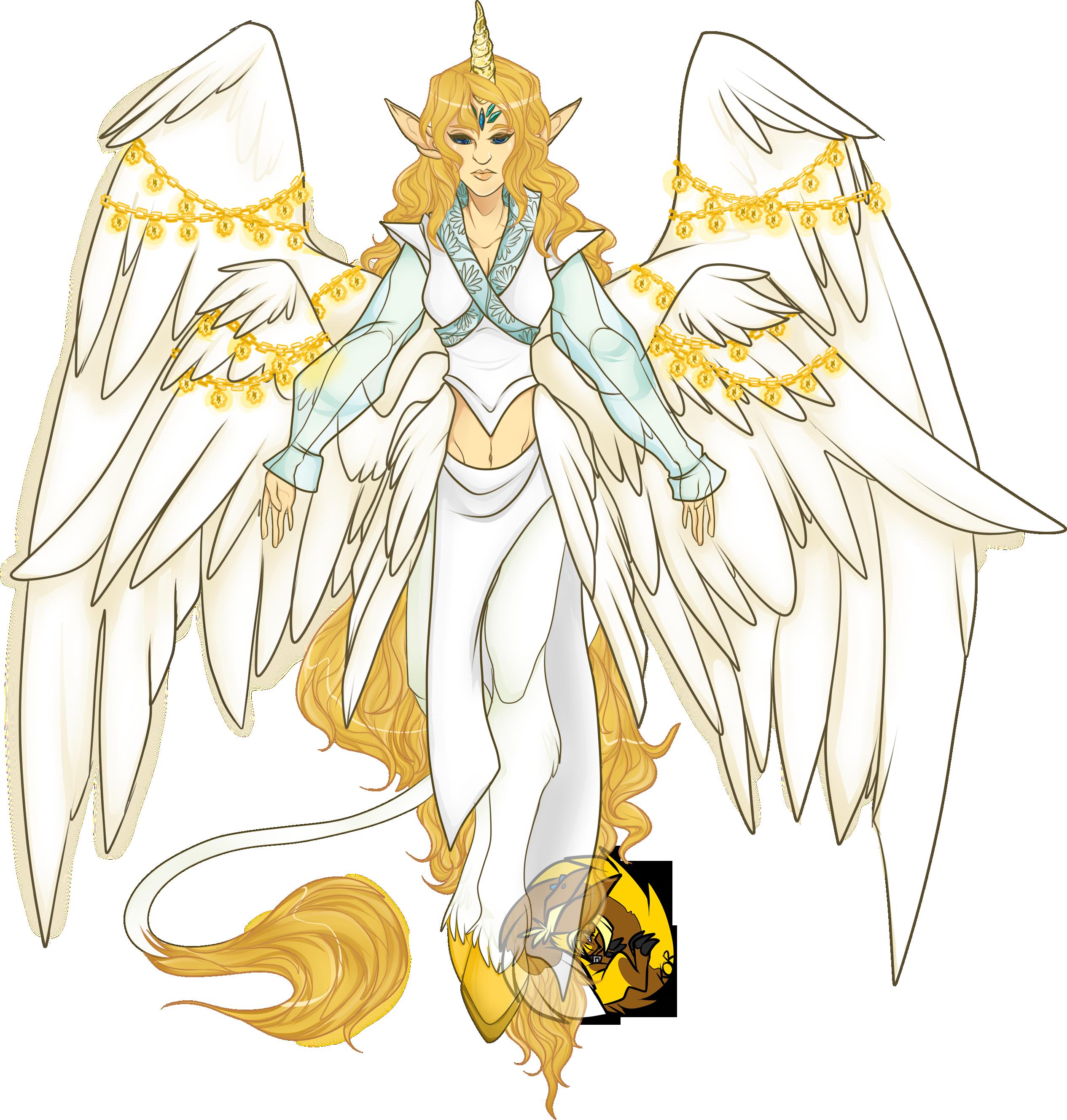 Wing clipart unicorn. Commission goddess weasyl