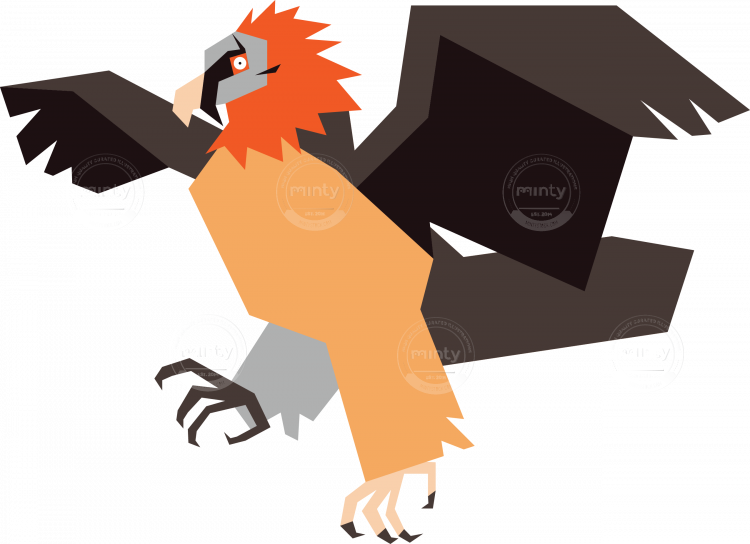 With spread wings illustration. Wing clipart vulture