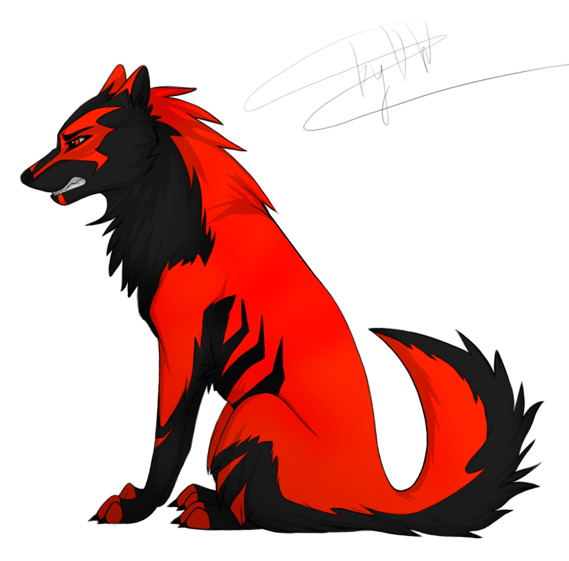Wing clipart wolf.  collection of red