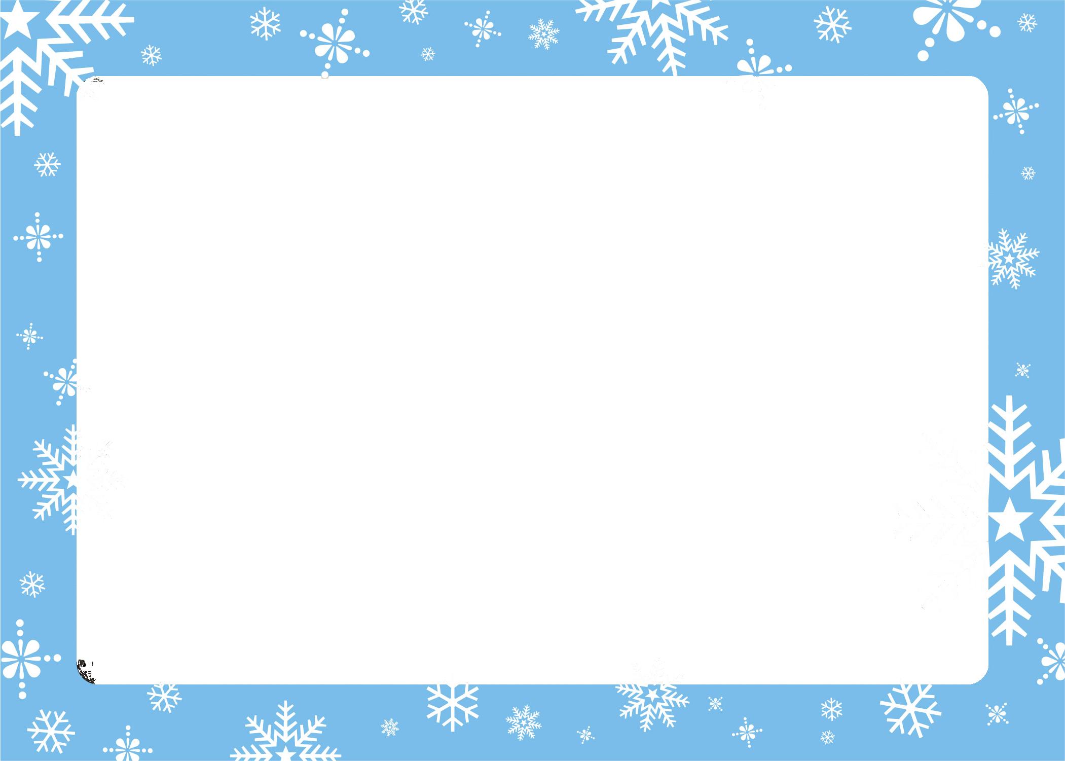 Winter border png. Snowflake graphic free techflourish