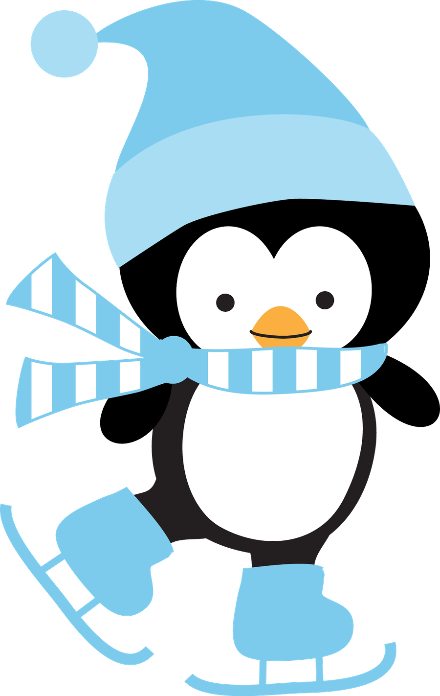 c b d. Heart clipart penguin