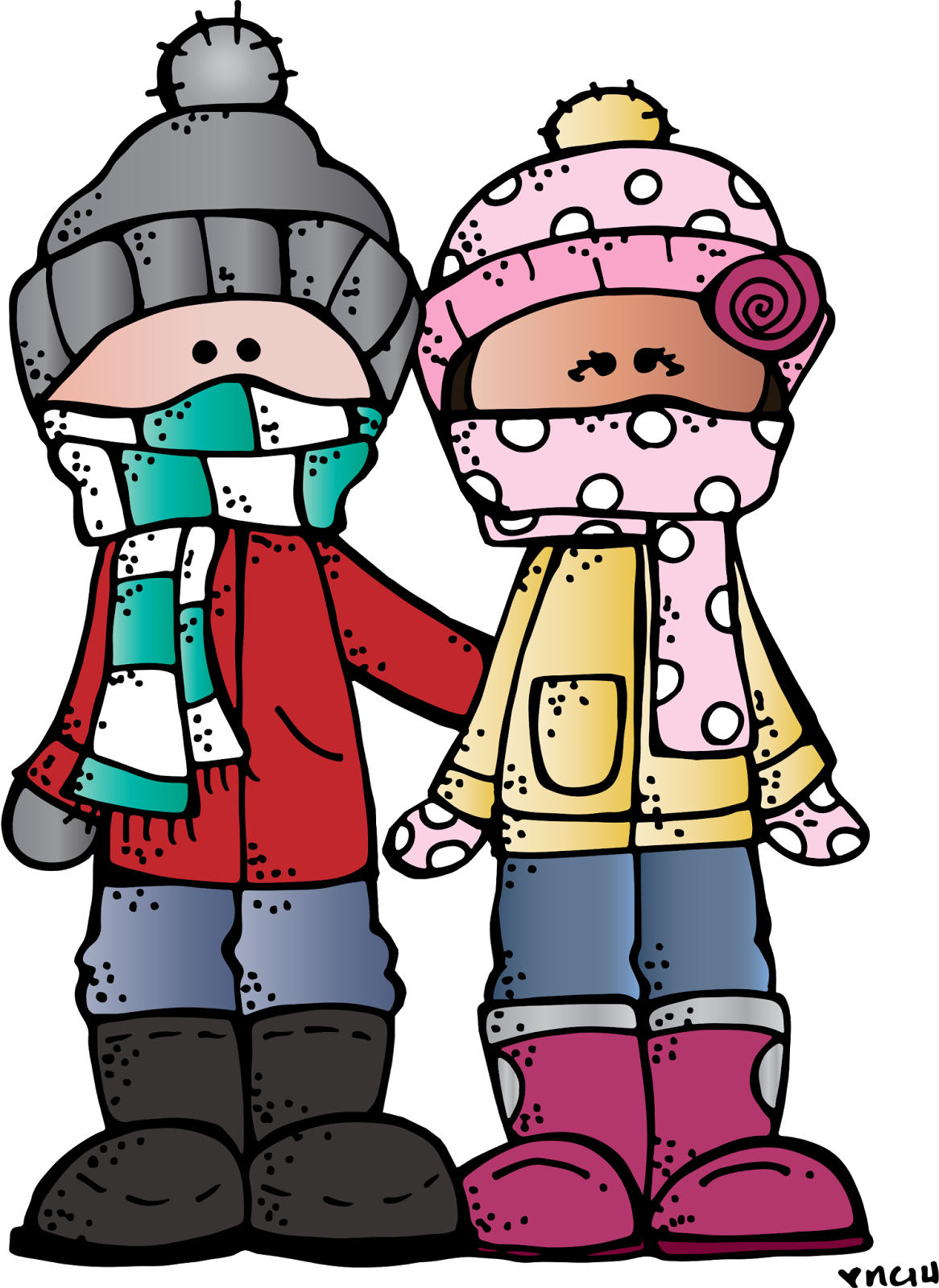 Clipart winter. Melonheadz illustrating happy printables