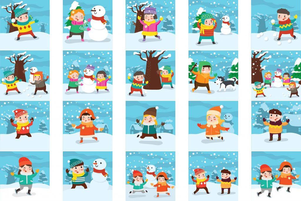 lovely bundle. Winter clipart activity