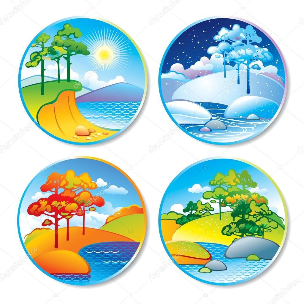 Fall station . Winter clipart autumn