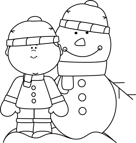 Winter clipart black and white. Pin on snowmen