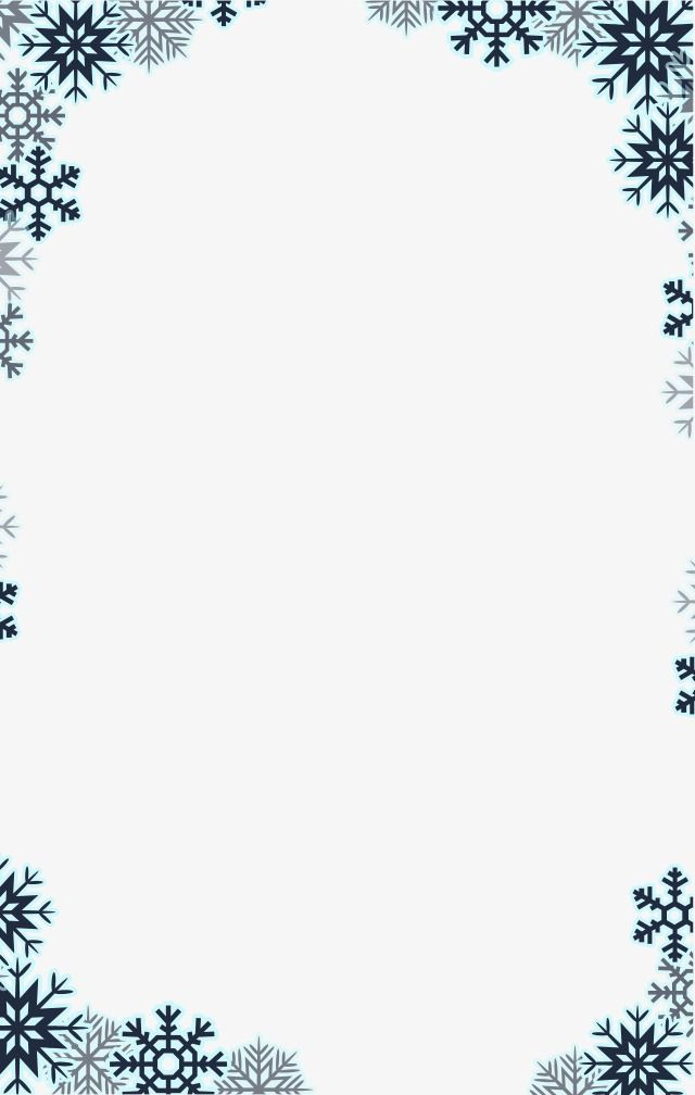 Snowflake border elements png. Winter clipart boarder