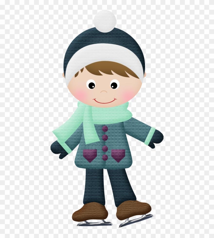 Winter clipart boy. B christmas
