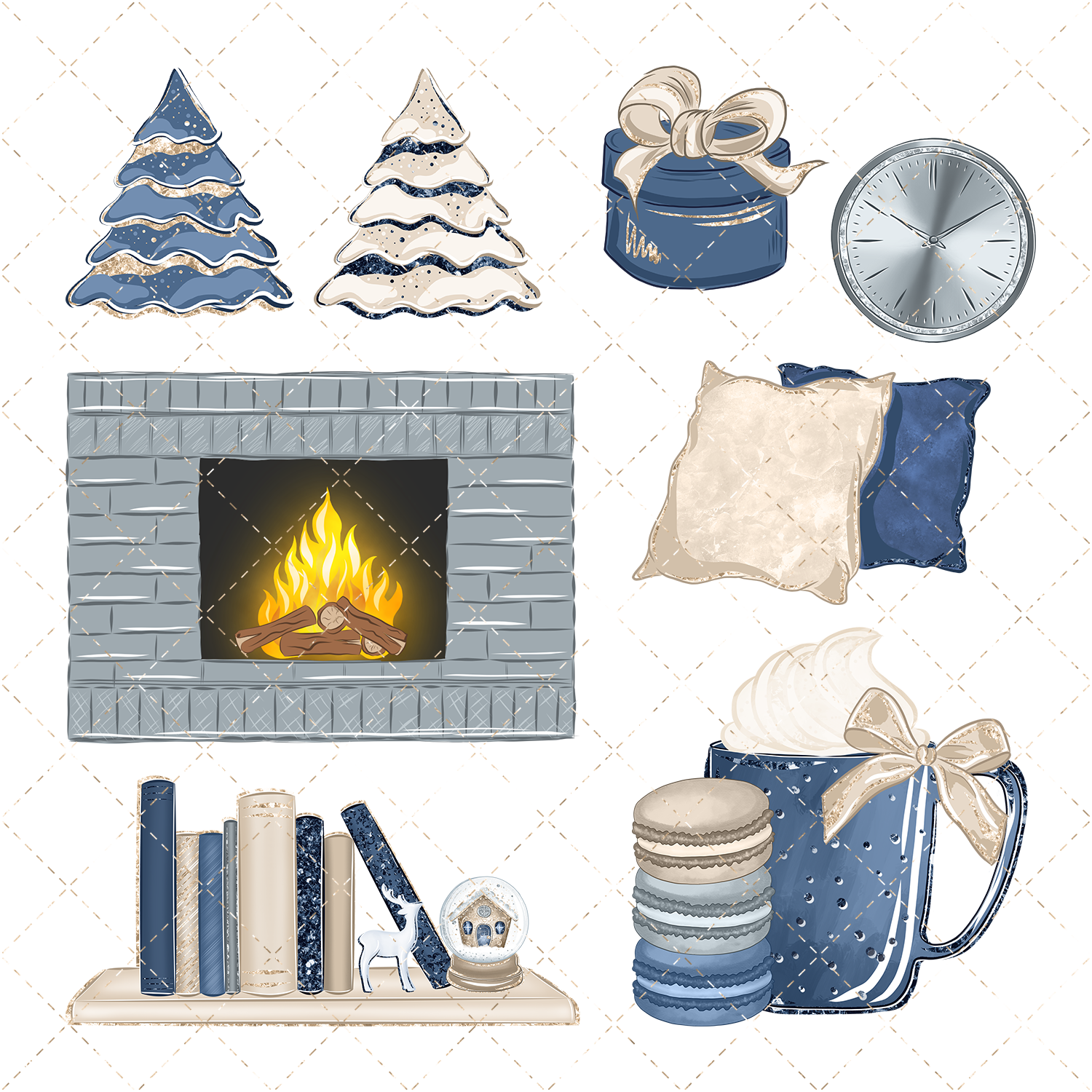 Winter clipart campfire. Homey by phantasiadesign thehungryjpeg