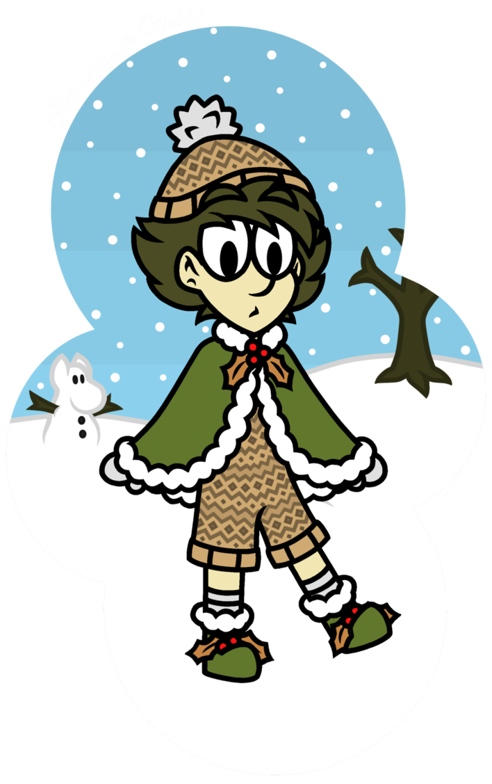 Snufkin s new outfit. Winter clipart character