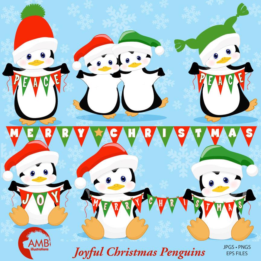 Penguin amb . Winter clipart christmas