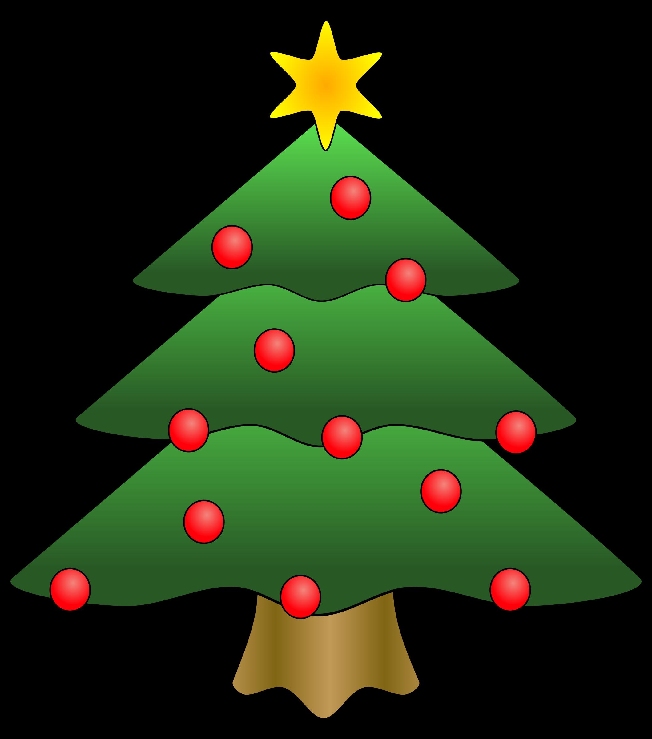 . Winter clipart christmas tree