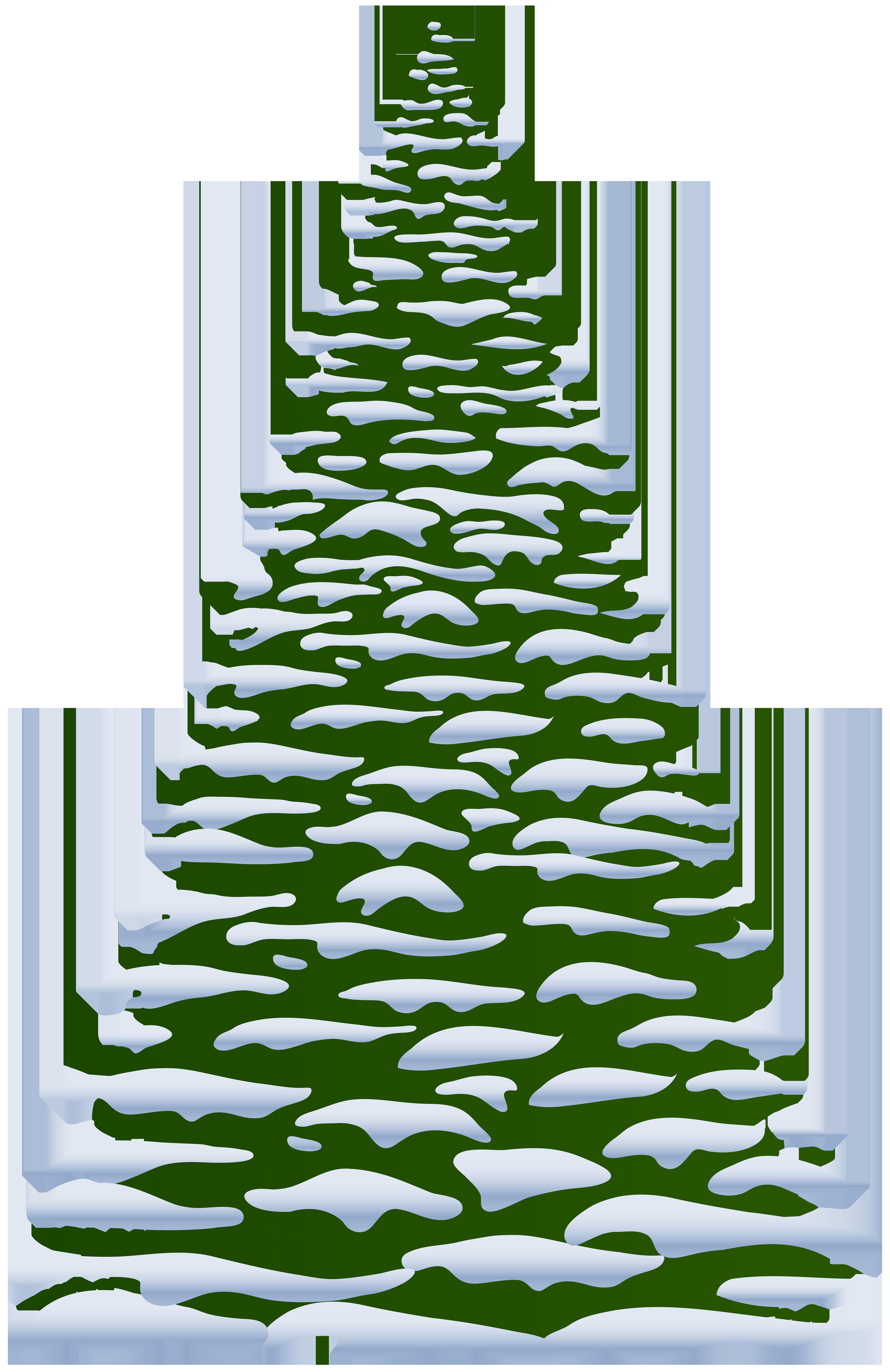 Pine tree transparent clip. Winter clipart corner