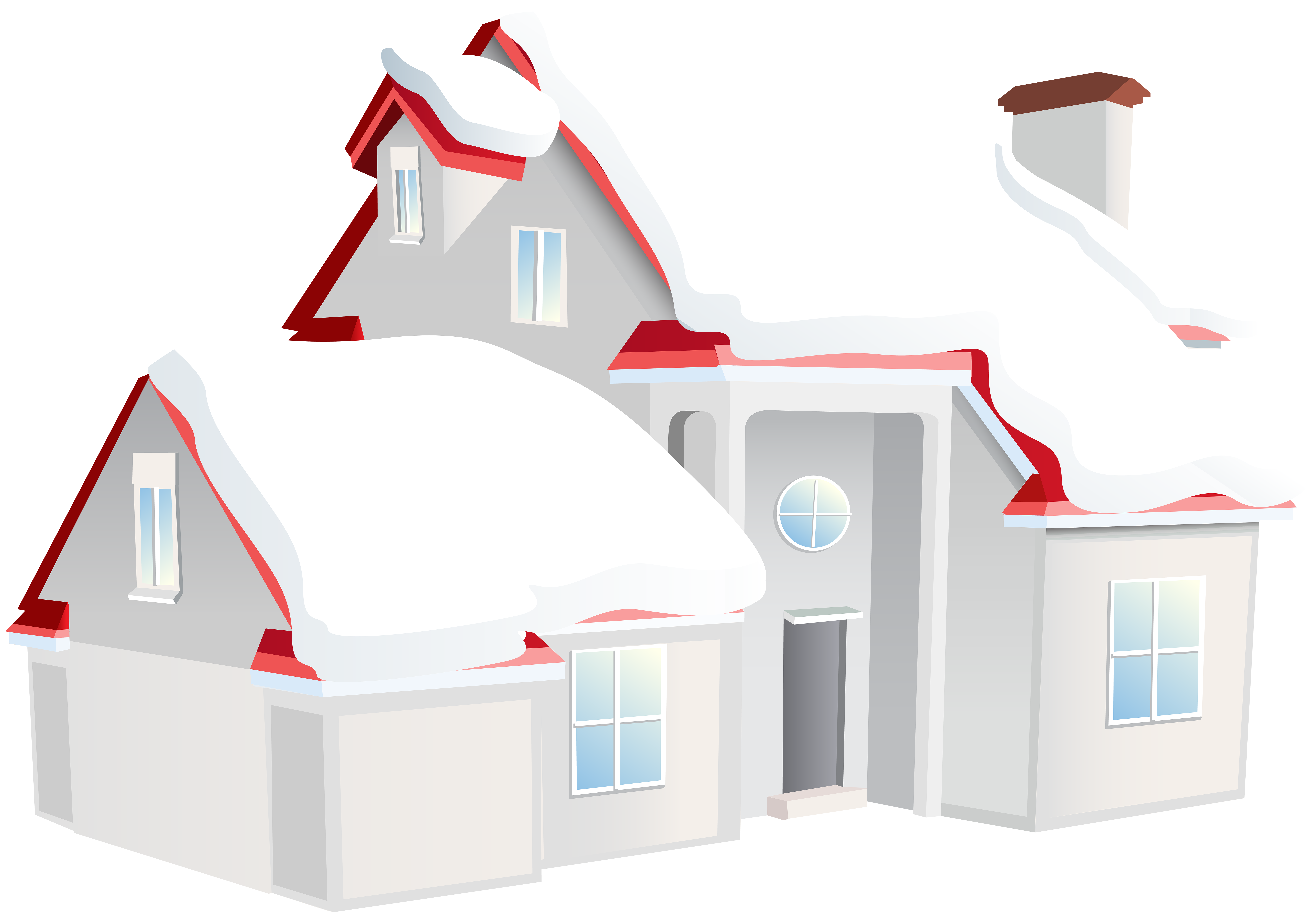 Winter clipart corner. House png clip art