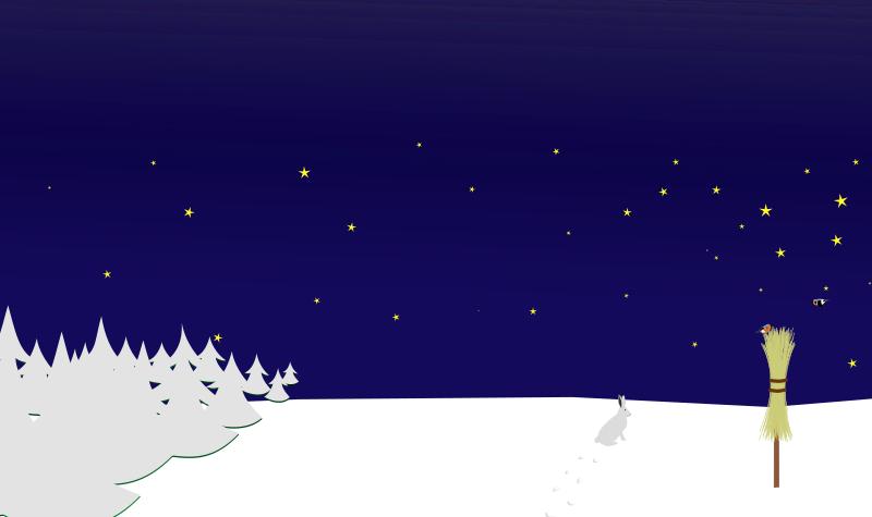 Winter clipart couple. Night scene medium image