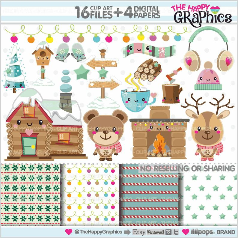 Winter clipart craft. Graphics commercial use party