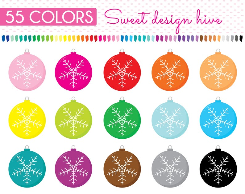 Winter clipart decoration. Baubles christmas tree ornament