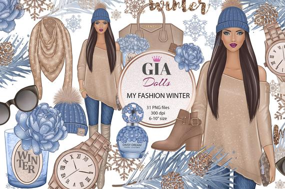 Christmas snowflakes png . Winter clipart fashion