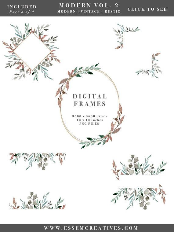 Watercolor leaf wreath leaves. Winter clipart greenery