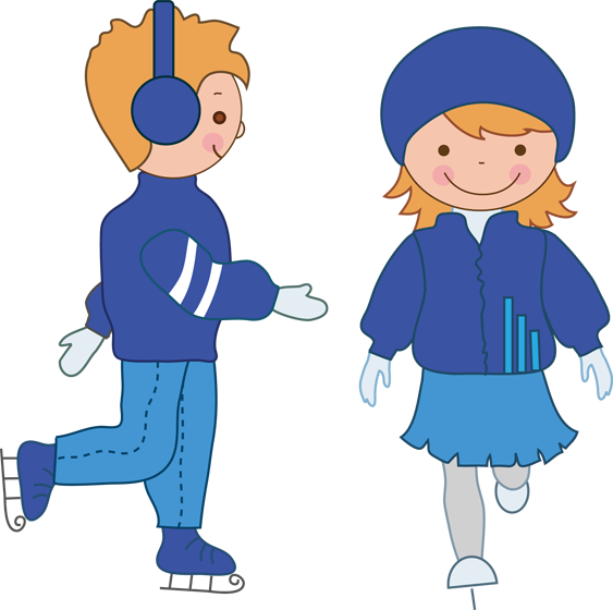 collection of png. Winter clipart ice skating