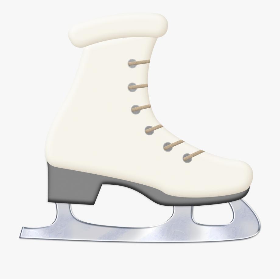 Skates clip art figure. Winter clipart ice skating