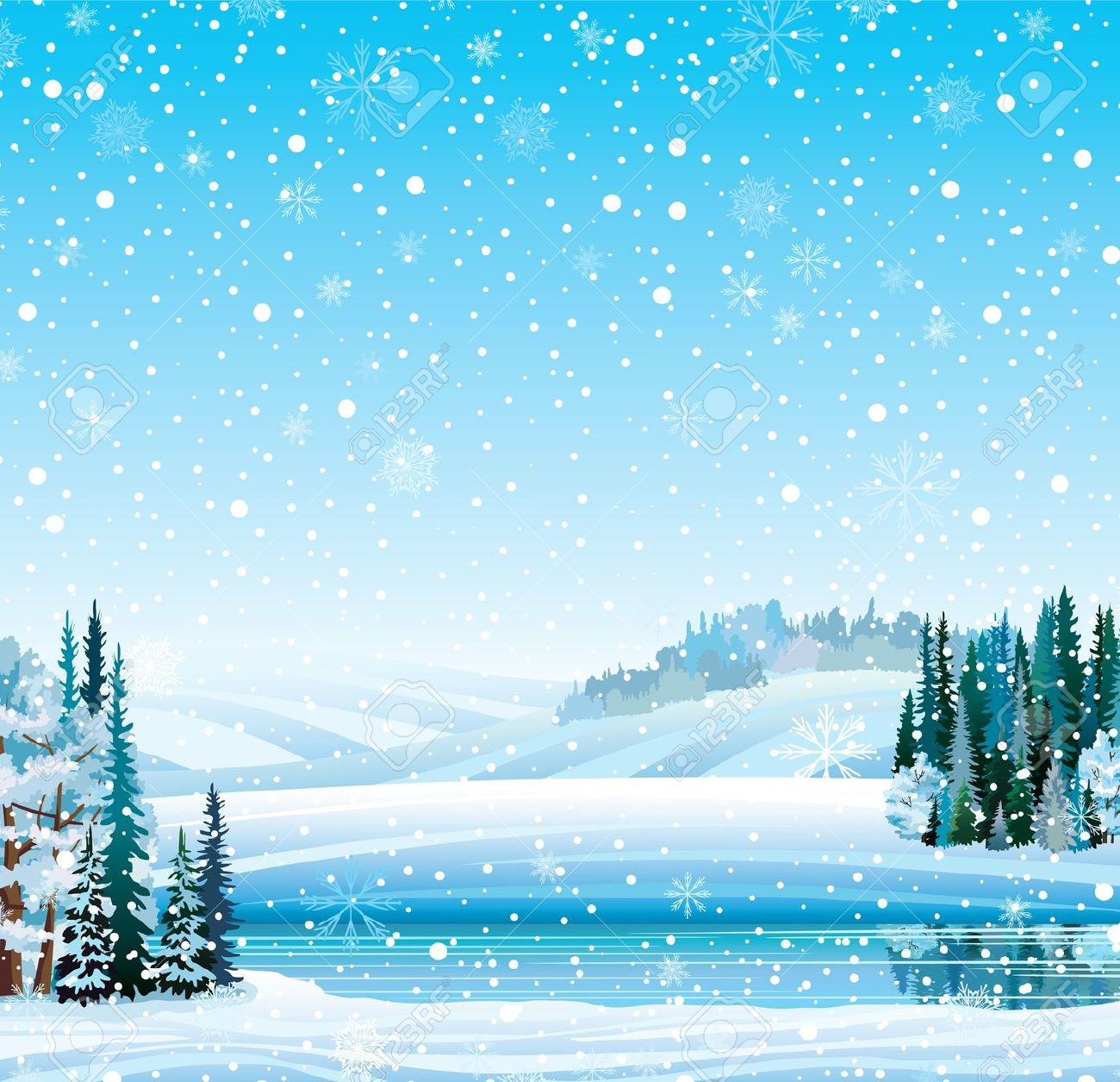 Free snowy cliparts download. Winter clipart landscape