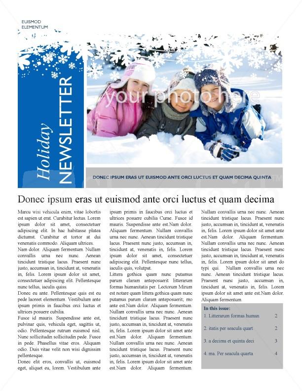 Winter clipart newsletter. Template templates