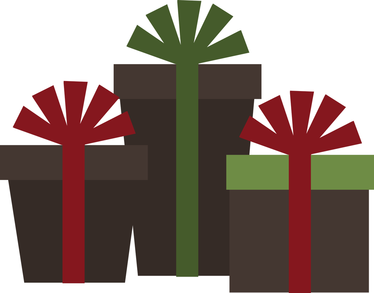 Ppbn designs christmas presents. Winter clipart plant