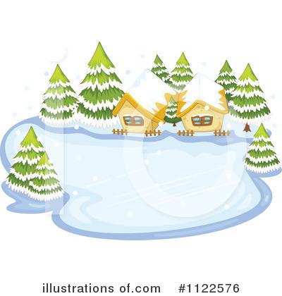 Illustration by graphics rf. Winter clipart pond