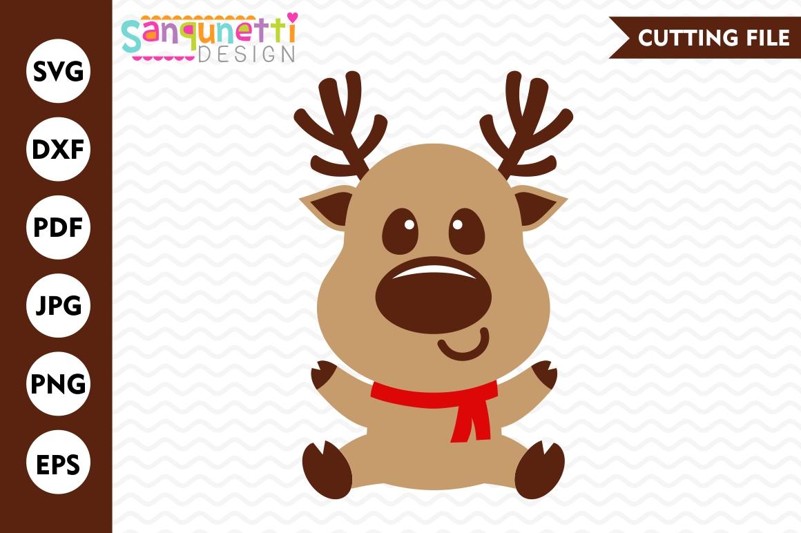 Winter clipart reindeer. Svg christmas