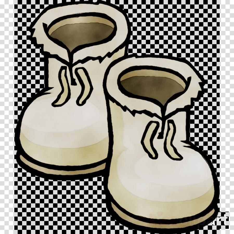 Snow clothing illustration . Winter clipart shoe