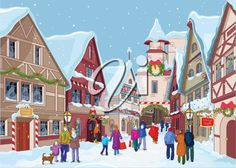 Winter clipart town.  best images in