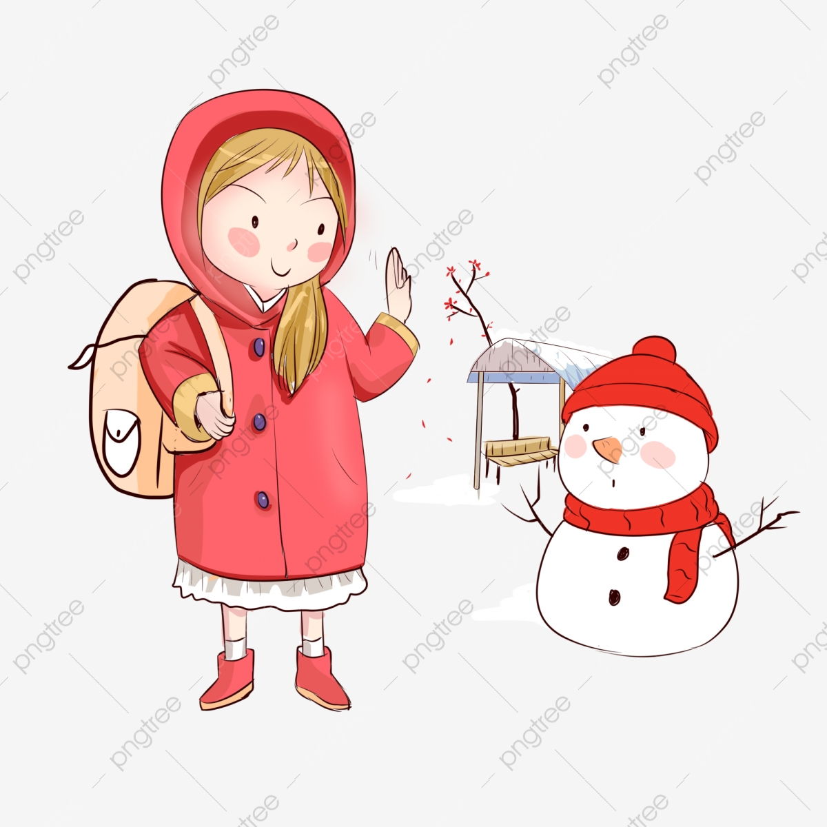 Winter clipart travel. Character illustration white snowman