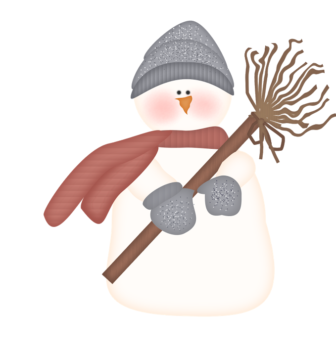 Mu equito de nieve. Winter clipart watercolor