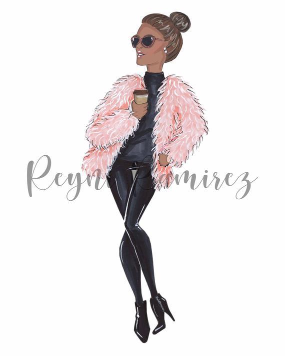 Winter clipart woman. Illustration downloadable printable art