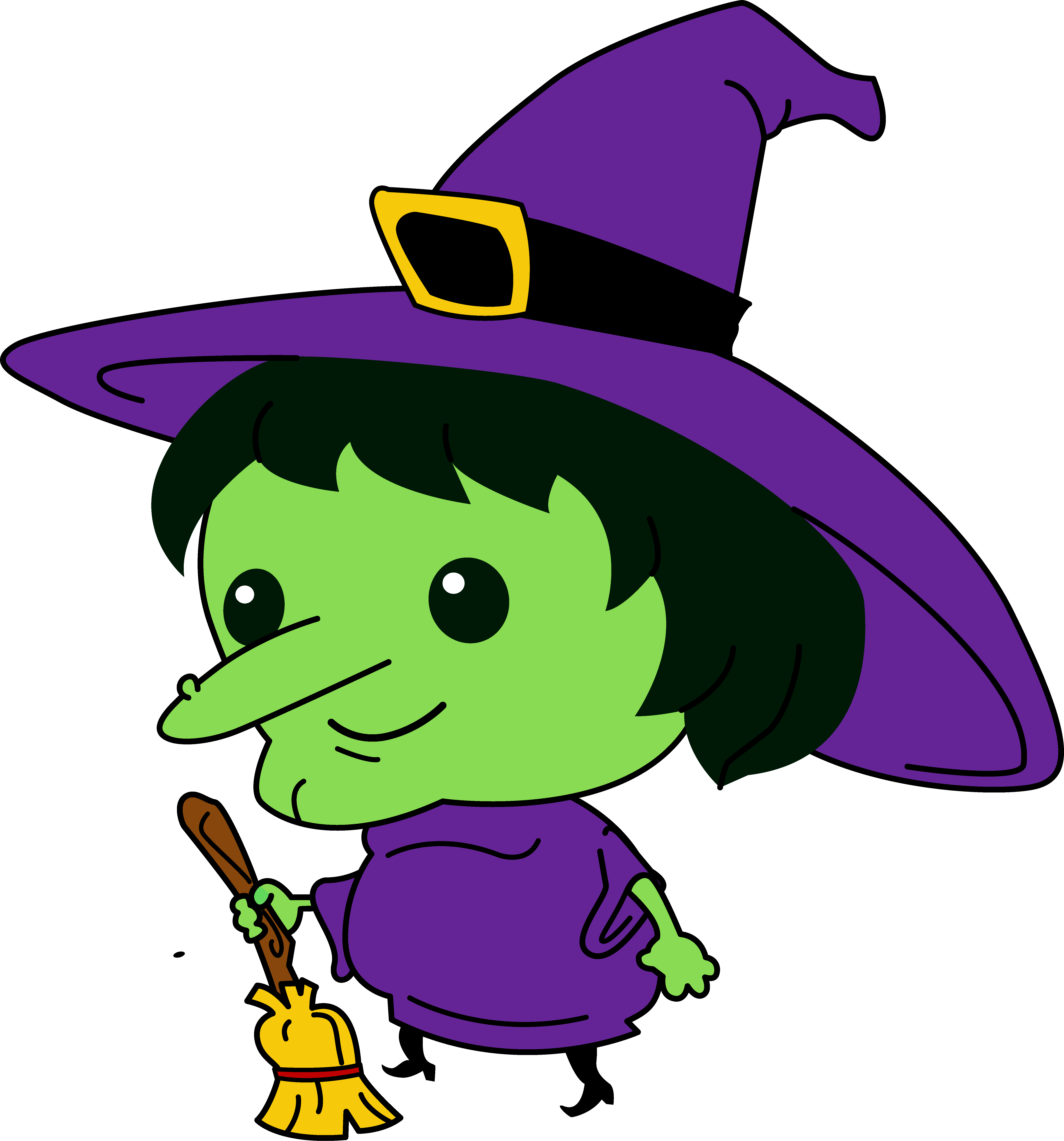 Cute witch . France clipart nice