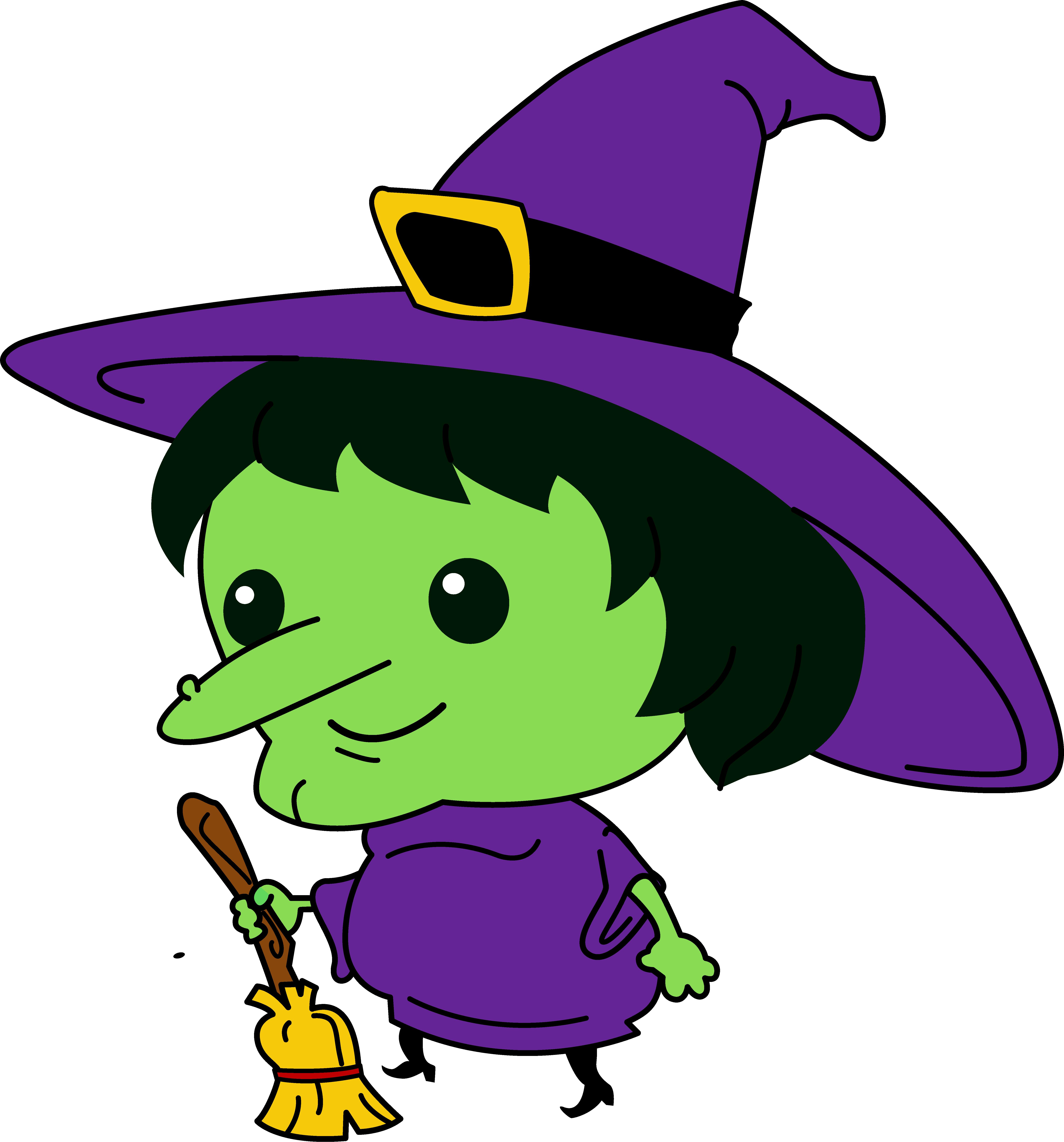 Cute . Witch clipart