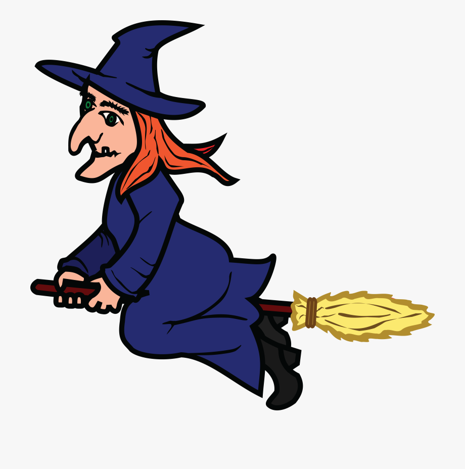 Free of a flying. Witch clipart