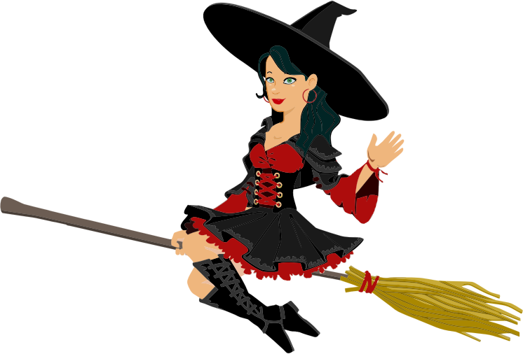collection of nice. Witch clipart animated