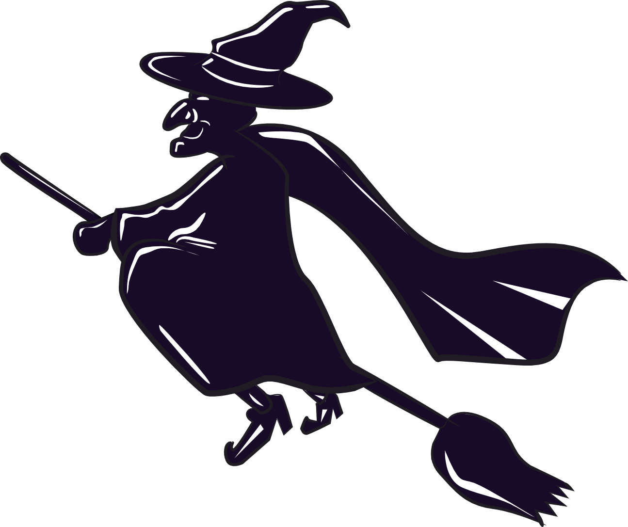 Witch clipart animated. Free ribbon broom cliparts