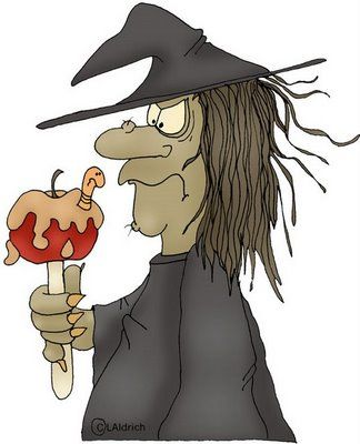 Witch clipart apple. And carmel halloween digis