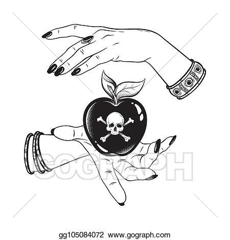 Witch clipart apple. Vector stock poison in